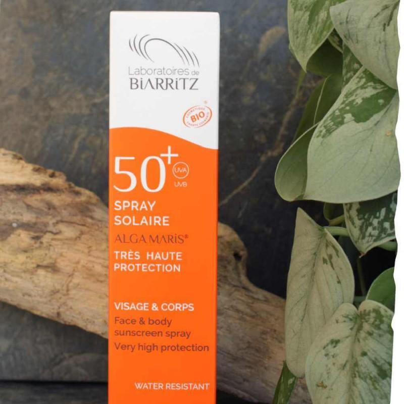 Spray solaire bio SPF50 - Visage et corps Laboratoire de Biarritz