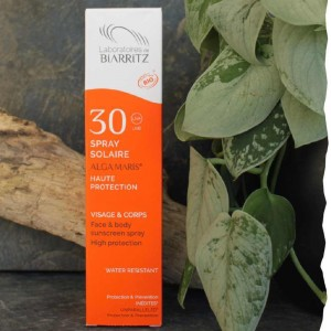 Spray solaire bio SPF30 - Visage et corps Laboratoire de Biarritz