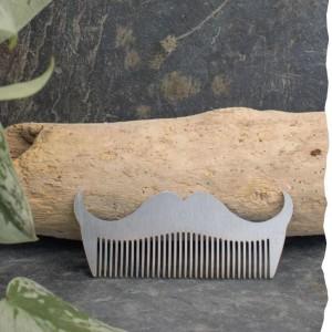 Peigne acier en forme de Moustache Barbe à la Française