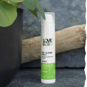Gel glisse intime lubrifiant bio sans parfum Loveme Bio