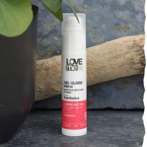 Gel glisse intime lubrifiant bio parfum framboise Loveme Bio