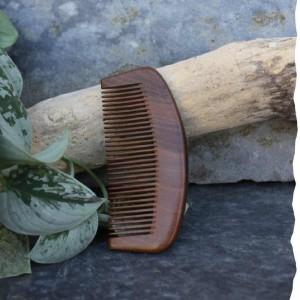 Peigne à barbe en bois de santal Barbe à la Française