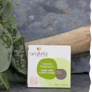 Savon Purifiant argile verte parfum cologne Argiletz