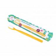 Lamazuna brosse à dents souple ou medium tête rechargeable bioplastique écologique fabriquée en France