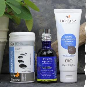 Pack essentiel pour prendre soin de vos pieds Argiletz, Allo Nature bio, Les Douces angevines bio