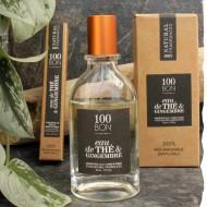 Parfum naturel concentré 100BON Eau de Thé et Gingembre 50ml et 10ml. Parfum français
