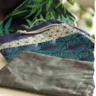 Pochette imperméable de transport pour cosmétiques solides Vadelma Créations - Modèle Bleu