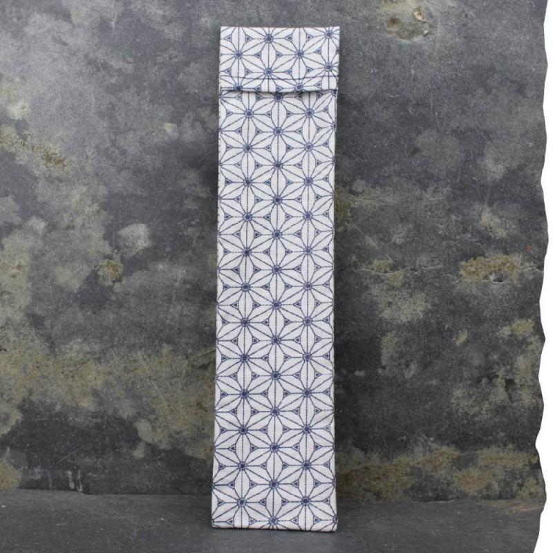 Pochette imperméable de transport pour brosse à dents Vadelma Créations - Modèle bleu étoilé