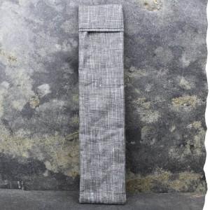 Pochette imperméable de transport pour brosse à dents Vadelma Créations - Modèle gris anthracite