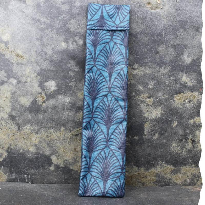 Pochette imperméable de transport pour brosse à dents Vadelma Créations - Modèle Wax bleu
