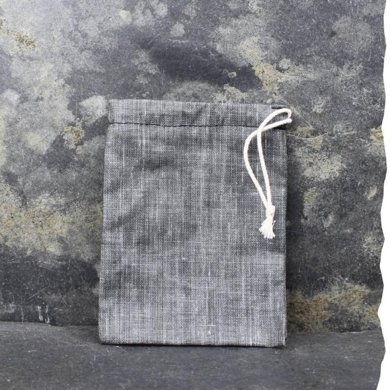 Pochette imperméable de transport pour cosmétiques solides Vadelma Créations - Modèle Gris anthracite