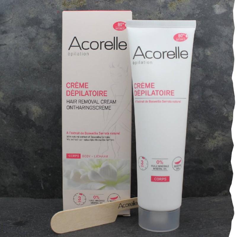 Crème dépilatoire homme Acorelle formule naturelle à 80%