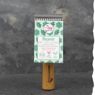 Rasoir de sûreté Lamazuna - artisanal - fabrication française - manche en chêne -pour un rasage durable