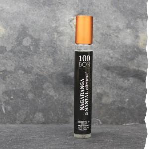 Parfum concentré Nagaranga et Santal Citronné 100BON 15ml. Fabriqué en France