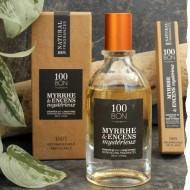 Parfum concentré naturel 100BON Myrrhe et Encens mystérieux 10 ml et 50 ml. Fabriqué en France