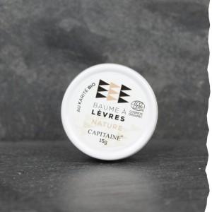 Baume à lèvres Bio Ô Capitaine, labellisé Cosmos Organic, fabriqué en Bretagne