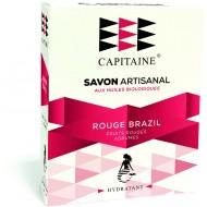 Savon 100% naturel surgras saponifié à froid bio hydratant à l'argile rouge 100g Ô Capitaine Bretagne - Rouge Brazil