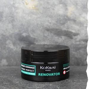 Masque et gommage exfoliant bio visage pour homme,  Kokwai 100ml. Fabriqué en France.