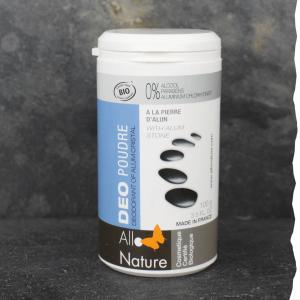 Déodorant en poudre bio pour homme à l'alun Allo'Nature