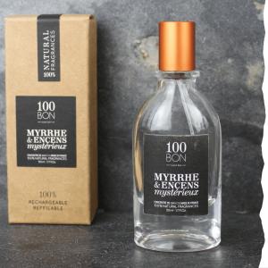 Parfum concentré naturel 100BON Myrrhe et Encens mystérieux 50 ml. Fabriqué en France.