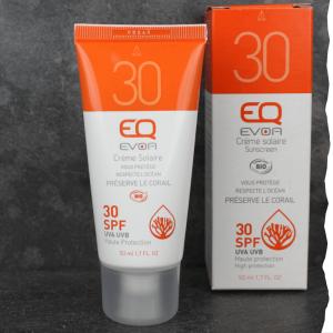 Crème solaire bio indice de protection 30 - Visage et corps EQ-Love, fabriqué en France