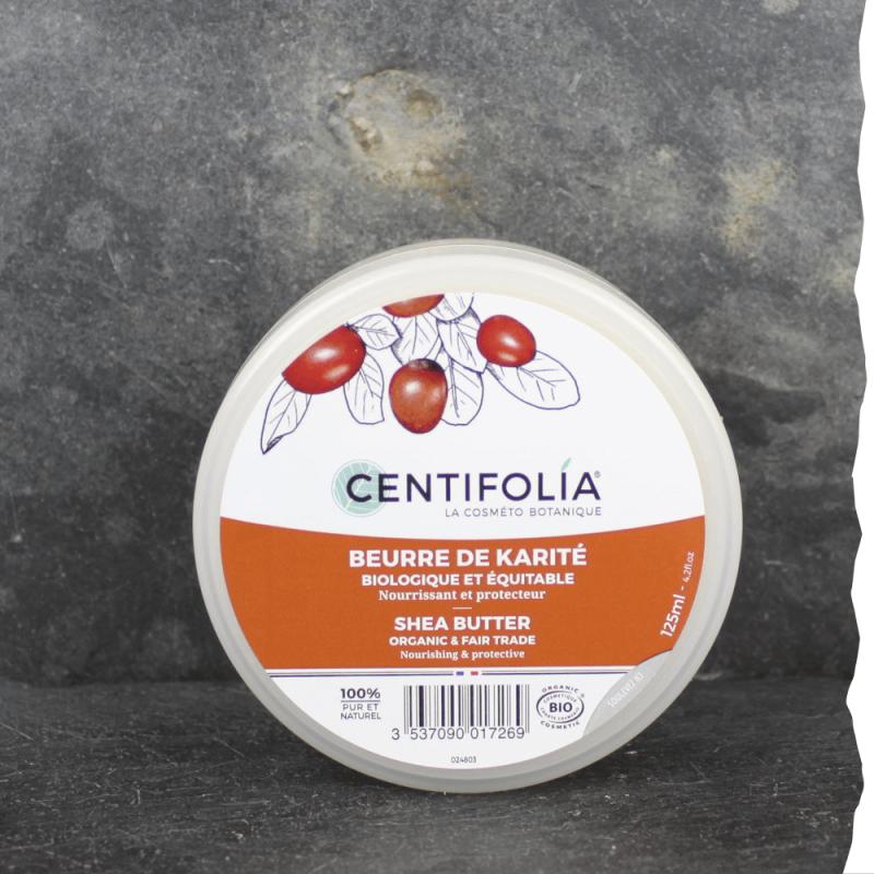 Bio Beurre de karité  équitable Centifolia 125ml