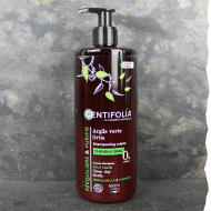 Shampoing bio régulateur cheveux gras 500ml Centifolia. Fabriqué en France