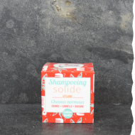 Lamazuna Shampoing solide bio cheveux normaux - Orange Cannelle Badiane