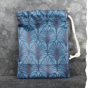 Zero déchet - Pochette imperméable de transport pour cosmétiques solides Vadelma Créations - Modèle Wax bleu