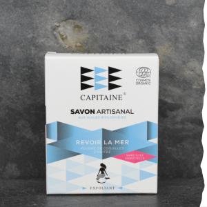 Savon 100% naturel surgras saponifié à froid bio exfoliant remineralisant 100g Ô Capitaine fabriqué en Bretagne - Revoir la mer