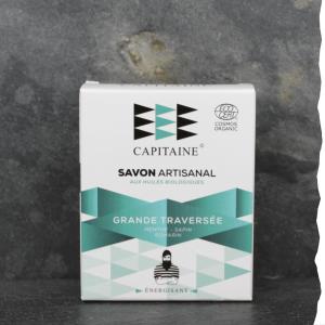 Savon 100% naturel surgras saponifié à froid bio ernergisant 100g Ô Capitaine fabriqué en Bretagne - Grande traversée