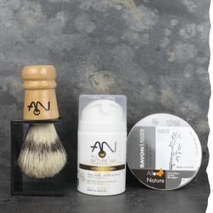 Bio Coffret cadeau rasage pour homme, fabriqué en France