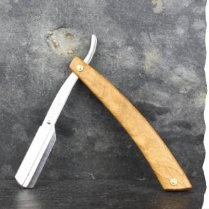 Shavette - Rasoir de barbier zéro déchet avec un manche en chêne pour un rasage durable. Fabriquée en France.