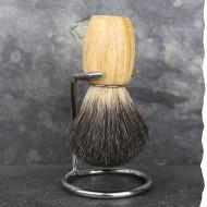 Blaireau de rasage artisanal - Poils de blaireau véritable - Fabriqué en France - Gentleman Barbier