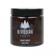 Crème à raser Bio pour Homme Bivouak. Fabriquée en France. Rasage bio.