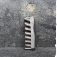Peigne mini râteau droit pour la barbe en corne. Fabriqué en France