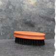 Brosse à Barbe Navette en Poils de Sanglier et bois de poirier. Fabrication européenne