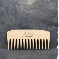 Peigne pour barbe longue et fournie en bois de platane. Fabriqué en France. Gentleman Barbier