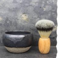 Bol à barbe artisanal. Fabrication française. Le Bolà gré chamotté pièce unique