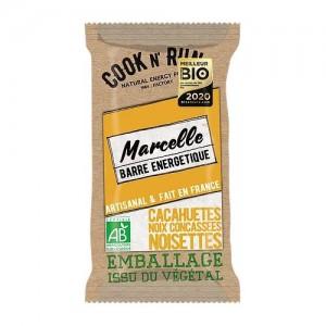 Barre énergétique Bio pour sportifs - Marcelle - Cook'n Run - Fabrication française - Emballage 100% végétal et biodégradable