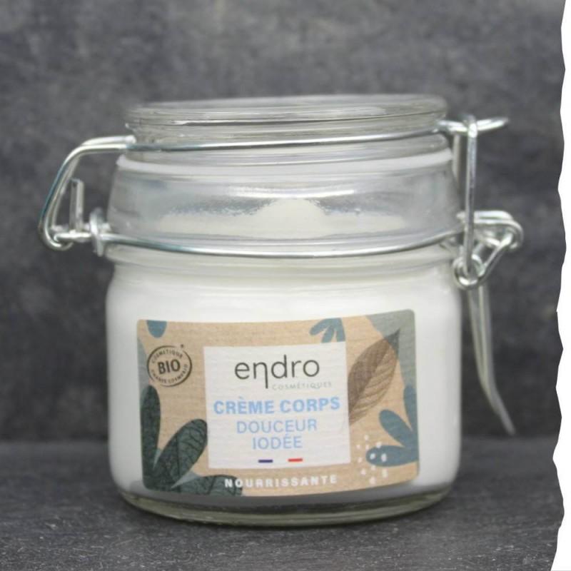 Crème naturelle et bio pour le corps - Fabrication française - Pot en verre - Endro - Bretagne