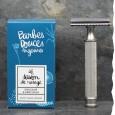 Coffret cadeau rasage pour homme, fabriqué en France, Bio - Barbes douces angevines - Gentleman barbier - rasoir de sûreté inox