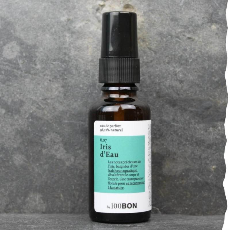 Parfum naturel pour homme 100BON - Iris d'eau - 30ml - Fabrication française