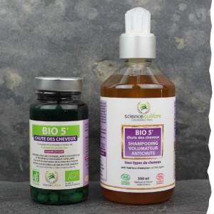 Synergie anti-chute de cheveux pour homme - Bio - Compléments alimentaires - shampoing anti chute