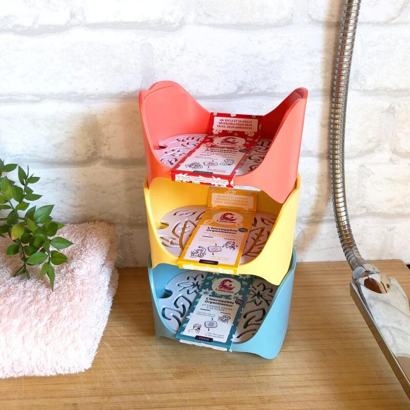 Organisateur de cosmétiques solides pour vos shampoings solides, déos, savon - Plastique recyclé - Made in France - Lamazuna