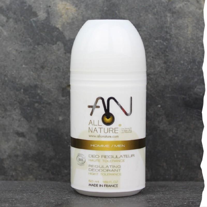 Déodorant bio pour homme Allo Nature à la pierre d'Alun - roll-on - Fabrication française