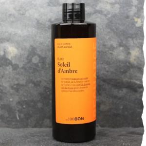 Parfum naturel pour homme 100BON - Soleil d'Ambre - 200ml - Fabrication française - Recharge - Economique