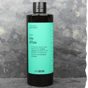 Parfum naturel pour homme 100BON - Iris d'eau - 200ml - Fabrication française - Recharge - Ecologique - Economique