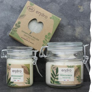 Coffret cadeau Zéro 0 déchet ENDRO - Made In France - Cosmétique solide - shampoing solide - déo solide