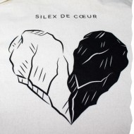 Tote bag - Made in France - Silex de Cœur - Illustration Laurent Voleau - Coton Bio - Zéro déchet - Fabrication française